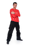 człowiek czerwonym young obraz stock
