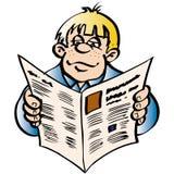 człowiek czytania wiadomości Zdjęcia Stock