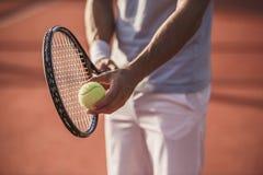 człowiek gra w tenisa zdjęcie royalty free
