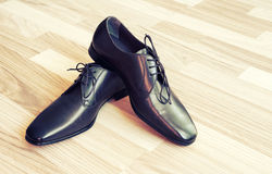 człowiek jest skórzane buty Zdjęcie Stock