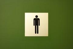 człowiek jest symbolem toaleta Zdjęcie Stock