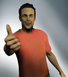 człowiek kciuki w górę Zdjęcia Stock