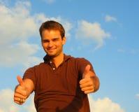człowiek kciuki w górę Obraz Stock