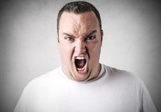 człowiek krzyczeć Zdjęcia Royalty Free