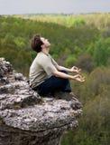 człowiek medytować Fotografia Royalty Free