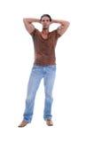 człowiek mięśniowi young Obrazy Stock
