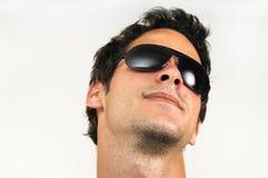 człowiek mody okulary przeciwsłoneczne obrazy stock