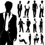człowiek mody położenie royalty ilustracja