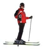 człowiek narciarka Obrazy Royalty Free
