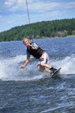 człowiek narciarstwa wody young Zdjęcia Stock