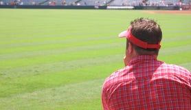 człowiek ogląda mecz Zdjęcie Stock