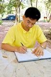 człowiek piśmie Obrazy Royalty Free