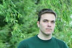 człowiek potoki łez willow Zdjęcie Royalty Free