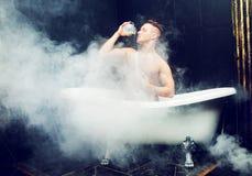 człowiek się kąpielowy Fotografia Royalty Free