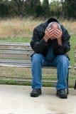 człowiek się smutny Fotografia Royalty Free