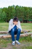 człowiek smutne young Zdjęcie Royalty Free
