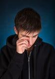 człowiek smutne young Obraz Stock