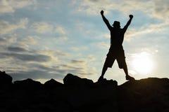 Człowiek sukcesu, praca, praca i cel, my zmagamy się obrazy stock