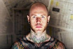człowiek tatuaż Zdjęcia Stock