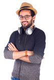 człowiek uśmiechnięci young Zdjęcie Stock