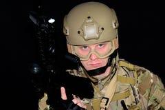 człowiek wojska kciuki w górę Fotografia Stock