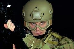człowiek wojska kciuki w górę Obraz Royalty Free