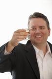 człowiek wznieść toast Obraz Royalty Free