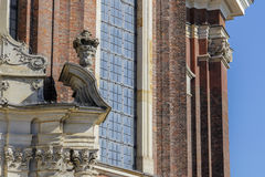 Część baroku stylu kościół Fotografia Royalty Free