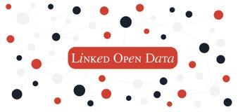 ??cz?cy Open Data poj?cie Web3 (0) technologii dla semantycznej sieci ilustracja wektor