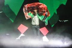 Członkowie ARMIN TYLKO: Intensywny przedstawienie z Armin Samochód dostawczy Buuren w arenie na Luty 21, 2014 Obrazy Royalty Free