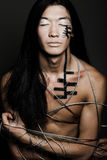 człowiek drut stalowy Fotografia Stock