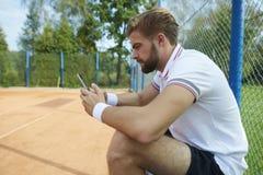 człowiek gra w tenisa Obrazy Royalty Free