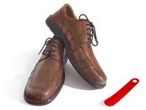 człowiek jest buty Zdjęcia Royalty Free