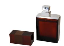 człowiek jest perfum Zdjęcia Stock