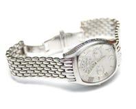 człowiek jest srebro zegarek Zdjęcie Stock