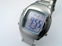 człowiek jest zegar elektroniczny Zdjęcie Royalty Free