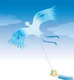 człowiek latawiec Fotografia Royalty Free