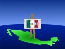 człowiek mapa Meksyku Fotografia Royalty Free
