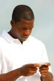 człowiek messagine tekst Zdjęcie Royalty Free