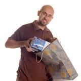 człowiek na zakupy Fotografia Stock