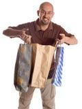 człowiek na zakupy Zdjęcia Royalty Free