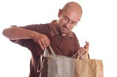 człowiek na zakupy Obraz Stock