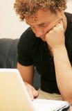 człowiek pracy komputerowego young Zdjęcie Stock