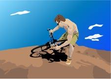 człowiek roweru brudu Royalty Ilustracja