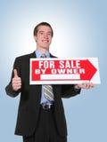 człowiek sprzedaje interesu Zdjęcia Royalty Free
