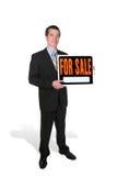 człowiek sprzedaje interesu Fotografia Royalty Free