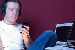 człowiek technologii zdjęcie royalty free