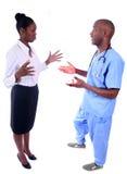 człowiek w medycznej kobieta Fotografia Stock