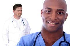 człowiek w medycznej kobieta Zdjęcia Stock