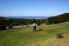 człowiek z golfa Obrazy Royalty Free